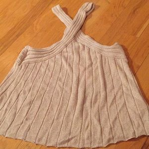 Anthropologie Moth neutral cream gold knit NWT